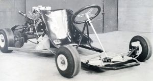 The finished Class 1 racing go-kart