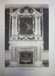 The original James Lovell chimney pieces in the State Dining Room, from the 1922 sales catalogue. We do not know where the overmantels are