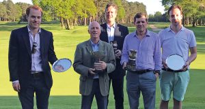Spring Meeting Winners at Woking: Josh Wheeler, Peter Simmons, William Hill, Nigel Wright and Hugo Douglass